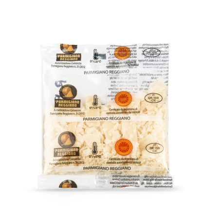 Parmigiano Reggiano cheese ribbons in single-serving sachets